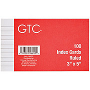 GTC Ruled 3 x 5 Inch Index Cards