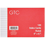 GTC Ruled 4 x 6 Inch Index Cards