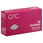 GTC Security Lined Envelopes 3 5/8 x 6 1/2 Inch