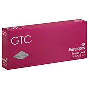GTC Security Lined Envelopes 4 1/8  x 9 1/2 Inch