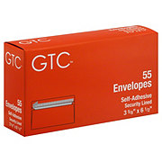 GTC Self-Adhesive Security Lined Envelopes 3 5/8 x 6 1/2 Inch