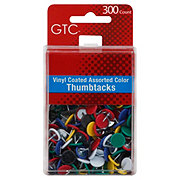 GTC Vinyl Coated Assorted Color Thumbtacks