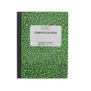 GTC Wide Rule 100 Sheets Color Composition Book, Assorted Colors