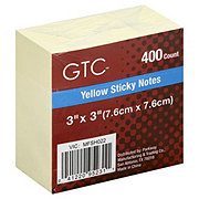 GTC Yellow Sticky Notes, 3x3 in