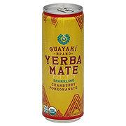 Guayaki Yerba Mate, Organic Brand, Sparkling, Cranberry Pomegranate