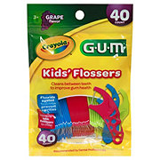 GUM Crayola Kids Flossers, Assorted Colors Included