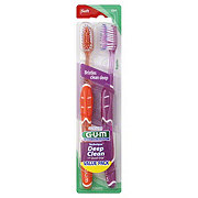 GUM Technique Deep Clean Soft Toothbrushes Value Pack - Colors May Vary
