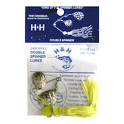 H&H Lure Company Chartreuse Original Double Spinner Lure