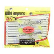 H&H Lure Company Salt & Pepper/ Chartreuse Tail 3 Inch Swagger Tail Shad