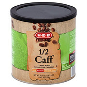 H-E-B 1/2 Caff Classic Roast Medium Roast Ground Coffee