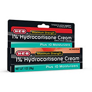 H-E-B 1% Maximum Strength Plus 10 Moisturizers Hydrocortisone Cream