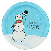 H-E-B 10-in. Christmas Snowman Design Paper Plates