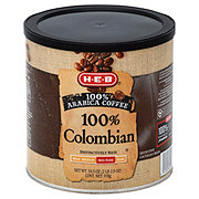 H-E-B 100% Colombian Med-Dark Roast Ground Coffee