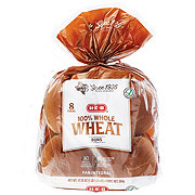 H-E-B 100% Whole Wheat Hamburger Buns