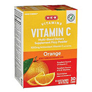 H-E-B 1000 mg Vitamin C Orange Fizzy Powder Drink Mix