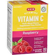 H-E-B 1000 mg Vitamin C Raspberry Fizzy Powder Drink Mix
