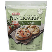 H-E-B 12 Vegetables Pita Crackers
