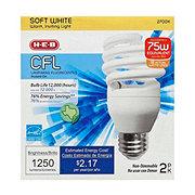 H-E-B 18W CFL T2e Micro Soft White Light Bulbs