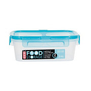 H-E-B 2 Cup Airtight Leak Proof Food Storage Container with Turquoise Lid