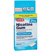 H-E-B 2 mg Nicotine Gum