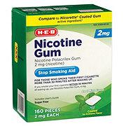 H-E-B 2 mg Nicotine Gum Cool Mint Flavor