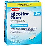 H-E-B 2 mg Nicotine Gum Stop Smoking Aid