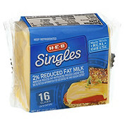 H-E-B 2% Reduced Fat Milk American Cheese Singles