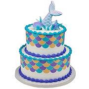 H-E-B 2 Tier Mermaid Scalloped Cake