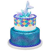 H-E-B 2 Tier Mermaid Shimmer Cake