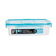 H-E-B 4.5 Cup Airtight Leak Proof Food Storage Container with Turquoise Lid