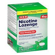 H-E-B 4 mg Mint Nicotine Lozenge