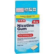H-E-B 4 mg Nicotine Gum