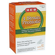 H-E-B 4X Probiotic Dietary Supplement