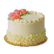 """H-E-B 6"""" Sensational White Cake with French Buttercream Icing"""