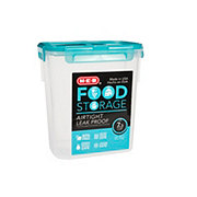 H-E-B 7.3 Cup Airtight Leak Proof Food Storage Container with Turquoise Lid