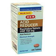 H-E-B Acid Reducer Acidrantidine Tablets 150MG