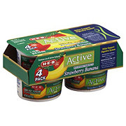 H-E-B Active Cultures Low Fat Strawberry Banana Yogurt