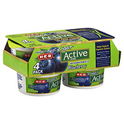 H-E-B Active Fat Free Blueberry Yogurt