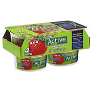 H-E-B Active Fat Free Strawberry Yogurt