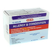 H-E-B Allergy & Congestion 12 Hour Tablets