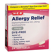 H-E-B Allergy Diphenhydramine 25 mg Dye Free Softgels