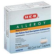 H-E-B Allergy Multi-symptom Cool Ice Caplets