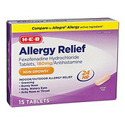 H-E-B Allergy Relief Fexofenadine Hydrochloride 180 mg Tablets