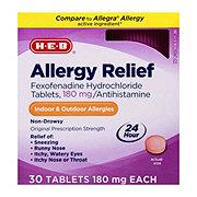 H-E-B Allergy Relief Fexofenadine180 mg Tablets