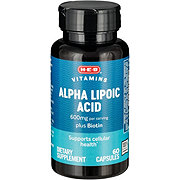 H-E-B Alpha Lipoic Acid 600 mg Capsules