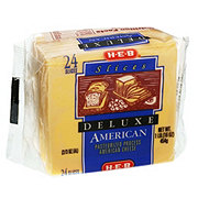 H-E-B American Deluxe Sliced Cheese