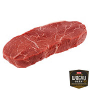 H-E-B American Kobe Beef Top Sirloin Steak Boneless Thick, Service Case