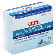 H-E-B Anti-diarrheal 2 mg Softgels