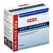 H-E-B Anti-diarrheal Twin Pack