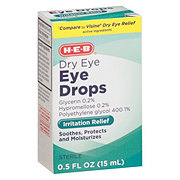 H-E-B Artificial Tears Lubricant Eye Drops